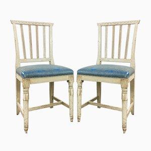 Antike Gustavianische Schwedische Esszimmerstühle, 2er Set