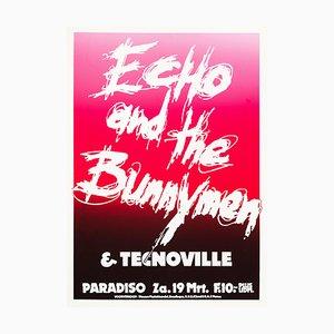 Echo & the Bunnymen Poster von Martin Kaye, 1983