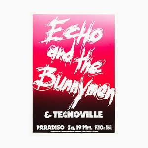 Echo & the Bunnymen Poster by Martin Kaye, 1983