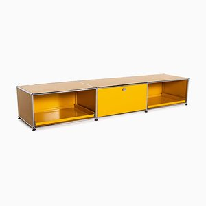 Metal Lowboard in Yellow from USM Haller