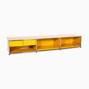 Metall Lowboard in Gelb von USM Haller