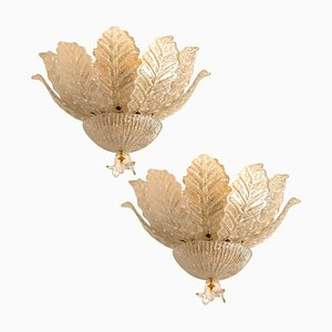Murano Glass Ceiling Lamp by Barovier&Toso, 1970s