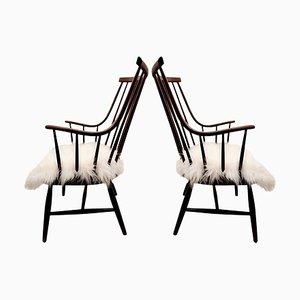 Große Armlehnstühle Modell Grandessa von Lena Larsson für Pastoe / Nesto, 1959, 2er Set