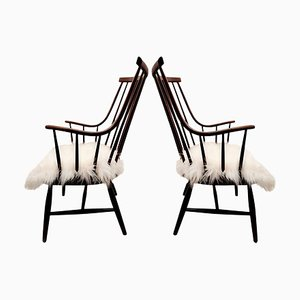 Large Armchairs Model Grandessa by Lena Larsson for Pastoe/ Nesto, 1959, Set of 2