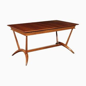 Italian Beech and Mahogany Veneer Table, 1950s