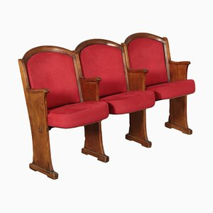 Italian Cinema Seats in Plywood and Solid Wood, 1960s