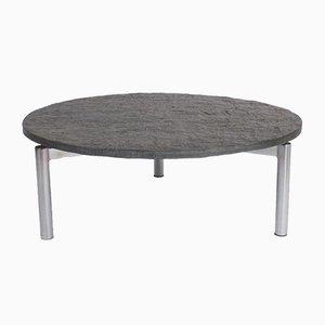 Couchtisch mit schwebender Tischplatte aus Schieferplatte