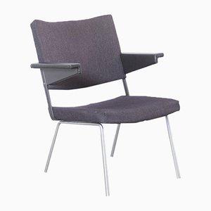Dunkelgraubrauner Modell 1445 Stuhl von André Cordemeyer für Gispen, 1960er