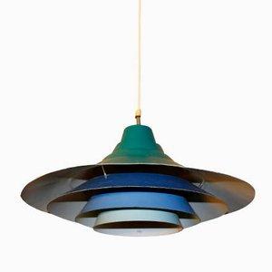 Lampe à Suspension Vintage Bleue, 1970s