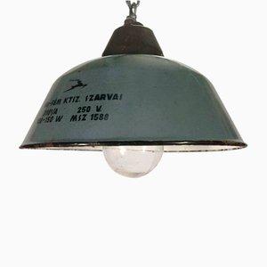 Industrielle Deckenlampe aus Gusseisen