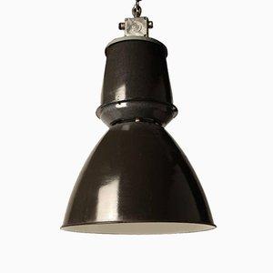 Industrielle Emaillierte Schwarze Fabrik Deckenlampe