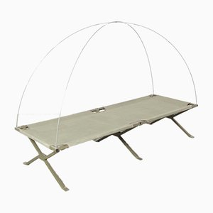 French Army Folding Bed with Mosquito-net Frame, 2000s