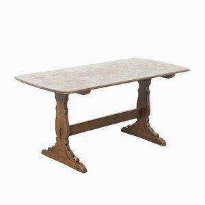 Trestle Base Side Table