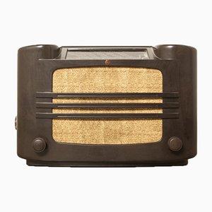 Radio de tubo 461A de baquelita de Philips, años 30