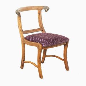 Indischer Vintage Mitgwer Stuhl mit Joch-Rückenlehne