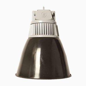 Schwarze Vintage Modell Vase Emaille Lampe
