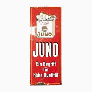 Emailliertes Vintage Schild für Juno