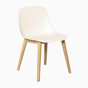 Contemporary White Fiber Side Chair by Iskos-Berlin for Muuto