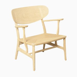 Contemporary Re-Edition CH22 Side Chair by Hans J. Wegner for Carl Hansen & Søn