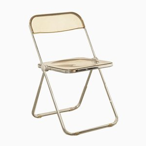 Smoked Acrylic Plia Folding Chair by Giancarlo Piretti for Castelli, Italy, 1960s