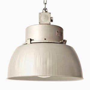 Graue industrielle Vintage Deckenlampe aus Metall