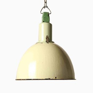 Vintage Lime Green Industrial USSR Pendant Lamp
