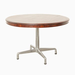 Mahogany Round Top SBC Table by Anna Castelli for Castelli, Italy, 1960s