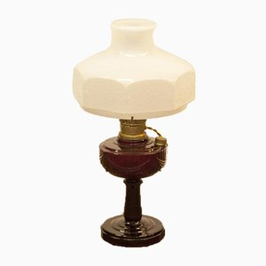 Vintage Ruby Red Aladdin Table Lamp