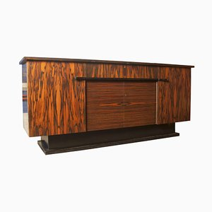 Aparador Art Déco de madera de zebra de Pander