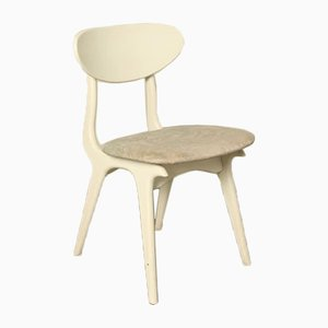Vintage White Chair by Louis van Teeffelen for WeBe
