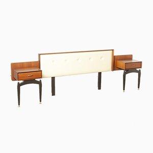 Tête de Lit Vintage avec Tables de Chevet