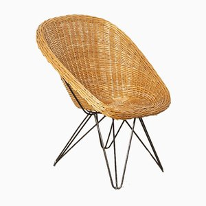 Rattan & Wicker Bucket Chair