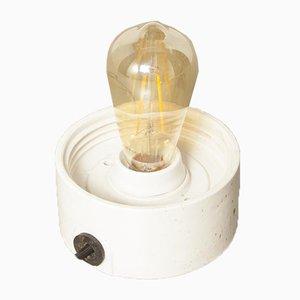 Weiße Vintage Porzellan Wand- oder Deckenlampe aus Porzellan