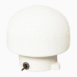 Weiße Vintage Porzellan Wand- oder Deckenlampe mit Montageohren