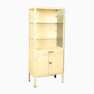 Vintage White Medical Cabinet