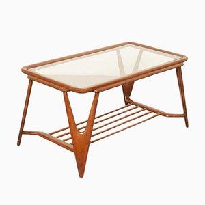 Tavolino in noce laccato di Cesare Lacca per Cassina, anni '50
