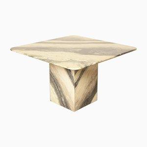 Viereckiger gestreifter Vintage Tisch aus Marmor