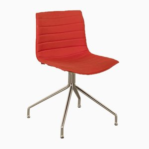 Red Catifa 46 Cross Base Chair by Studio Lievore Altherr Molina for Arper, Italy, 2000s
