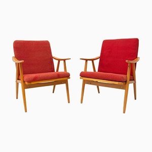 Mid-Century Armchairs by Jaroslav Smidek for Ton, 1970s, 1970s, Set of 2
