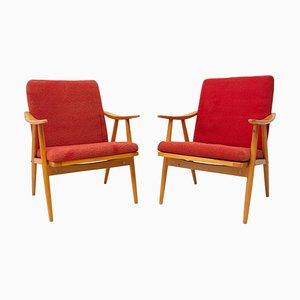 Mid-Century Armlehnstühle von Jaroslav Smidek für Ton, 1970er, 1970er, 2er Set