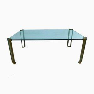 Table Basse Vintage en Laiton par Peter Ghyczy