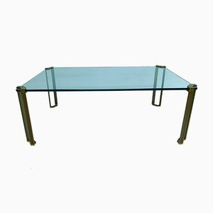 Vintage Brass Coffee Table by Peter Ghyczy