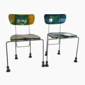 Modell 543 Beistellstühle von Gaetano Pesce für Bernini, 1990er, 2er Set
