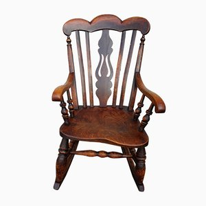 Antique Windsor Rocking Chair, 1850