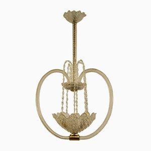 Lámpara de techo Art Déco de cristal de Murano de Ercole Barovier para Barovier & Toso, años 30