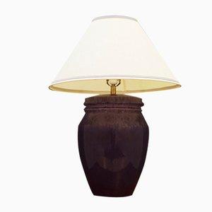 Lampe de Bureau Mid-Century en Céramique Violette, Danemark, 1970s