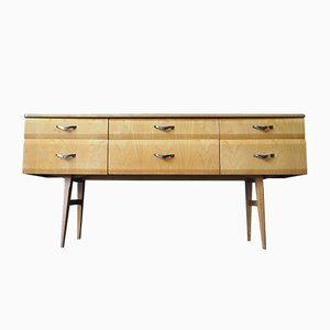 Mid-Century Maple Veneer Dressing Table and Mirror by Alphons Leobenstein for Meredew, 1960s