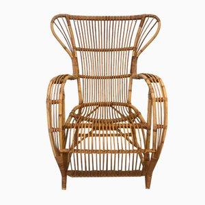 Vintage Danish Rattan Garden Chair, 1940s