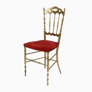Brass Chiavari Side Chair by Giuseppe Gaetano Descalzi, 1960s