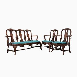 Antikes Wohnzimmer Set, 3er Set